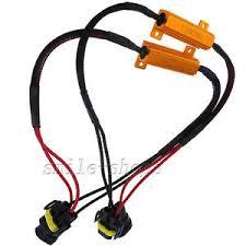 2pcs h11 h8 h9 error led load resistor wiring harness for fog image is loading 2pcs h11 h8 h9 error led load