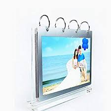 Wedding Album Display Stand Cool Amazon Leoyoubei Clear Acrylic Sided Frames Desktop Display