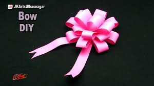 DIY Easy paper bow gift wrap | How to make | JK Arts 1051 #PaperBow -  YouTube