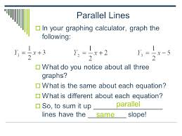 linear equations parallel and perpendicular lines calculator