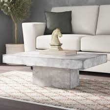 Safavieh gargon concrete coffee table in dark grey. Ranchester Coffee Table Coffee Table Living Room Coffee Table Concrete Coffee Table