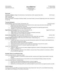 resume samples uva career center resume example julia dreyfus