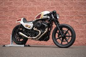 bike build from stock harley sportster to café racer get lowered cycles