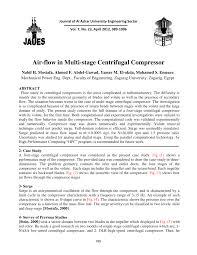 Centrifugal Compressor Impeller Design Pdf Pdf Air Flow In Multi Stage Centrifugal Compressor