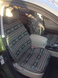 2017 subaru outback front seats with green aztec seat covers