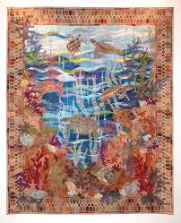 "Turtle Bay"" by Claudia Pfeil. Best Pictorial Quilt, 2015 Festival ... & Best Pictorial Quilt, 2015 Festival of Quilts Adamdwight.com"