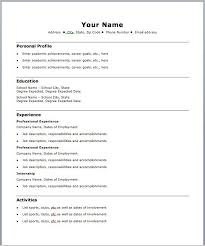 Free Fillable Resume Templates