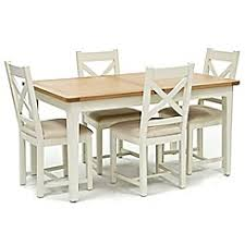 Willis U0026 Gambier   Oak Top U0027Newquayu0027 Small Extending Dining Table And 4  Cross
