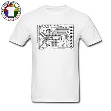 T Shirt Design For Drawing Us 9 54 55 Off Computer Circuit Board Drawing Print T Shirts Adult Short Sleeve Men Tee Shirt High Quality Image Design Custom T Shirt On Sale In