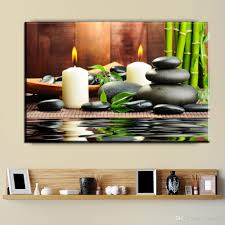 2018 Zz1923 New Bamboo Black Spa Zen Stone Pictures Prints On