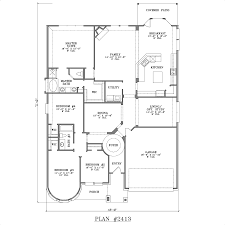 small 4 bedroom house plans one story awesome floor plan walkout