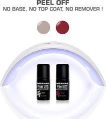 Gel Nagellak Meanail Kit Peel Off Uv Led Lamp Nude Rood
