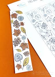 Bookmark Designs To Print Fall Leaf Printable Coloring Bookmarks Carla Schauer Designs