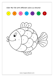 Your child can color the sheet when he finishes counting. Free Printable Color By Numbers Worksheets Color Recognition For Preschool Kindergarten Kids Megaworkbook