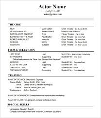 Actor Resume Inspiration Actor Resume Sample Xenomorphme