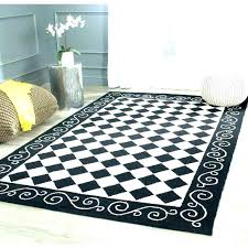 checd area rug s rooster rugs black