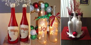 How To Decorate A Wine Bottle For Christmas 100 Amazing Wine Bottle Christmas Crafts 1