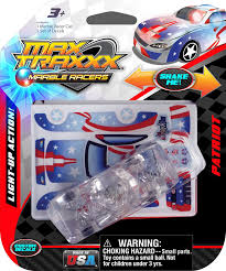 Light Up Marble Racer Max Traxxx Award Winning Patriot Light Up Marble Racer Gravity Drive 1 64 Scale Car