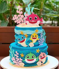 15 adorable baby shark birthday cake