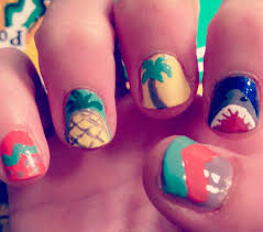 Touch-Me-Not Nail Art