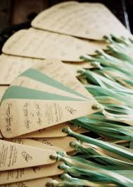 Wedding Program Fans Cheap 11 Wedding Ceremony Programs That Double As Fans Mywedding