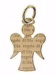 guardian angel with engraved prayer