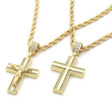 Necklace Thickness Chart Mens Gold Rope Chain Necklace With Cross Rope Necklace
