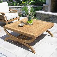 natural teak coffee table fiori