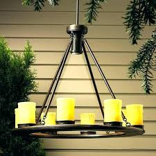 outdoor chandelier candle home depot led gazebo regarding