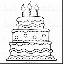 Coloring Books And Pages Birthday Cake Free Happys Printable