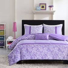 Pretty Purple and White Floral Bedding Set
