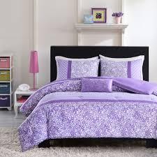 pretty purple and white fl bedding set