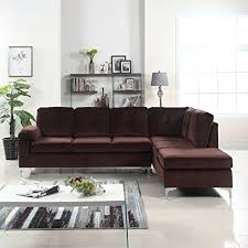 microfiber sectional sofa. Unique Sectional Divano Roma Furniture Modern Tufted Brush Microfiber Sectional Sofa Large  LShape Couch  With Sofa