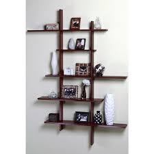 cherry wood floating wall shelves in x dark cherry deluxe shelf tall floati on living room