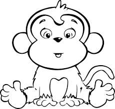 Baby Monkey Coloring Pages Baby Monkey Coloring Pages Monkey
