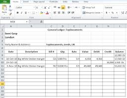 General Ledgers General Ledger Templates In Excel Format Xlsx Accounting Ledger