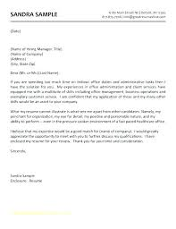 job applications examples administrative assistant cover letter examples for jobs template