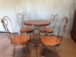 Ice Cream Parlor Table And Chairs Warm Design Ideas Decor