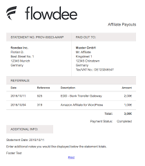 Statement Of Invoices Payout Statements For Affiliatewp Kryptonitewp