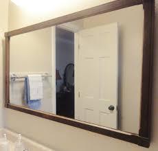 Bathroom Mirror Storage Bed Bath Large Framed Mirrors With Bathroom Mirror Frames And Cool