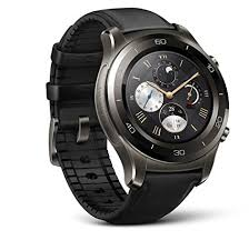 huawei watch 2 classic. huawei watch 2 classic \u2013 titanium grey with black hybrid strap - android wear 2.0 ( amazon.com