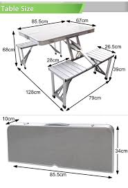 stylish portable picnic table and chairs whole aluminium folding portable picnic outdoor camping set
