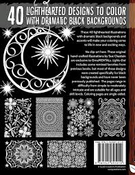 Black Light Coloring Posters Ornamentals Lights Out 40 Lighthearted Designs To Color