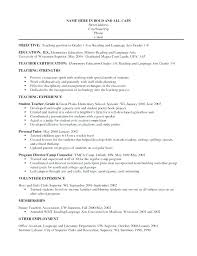 objective for teaching resume resume objective for teacher prettify co