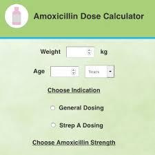 Antibiotic Dosage Chart Amoxicillin Paediatric Dose Calculator Health Navigator Nz