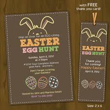Easter Egg Hunt Invitation Printable Easter Invitation