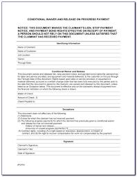 Free Subcontractor Lien Waiver Form Contractor Lien Waiver Form Illinois Form Resume Examples