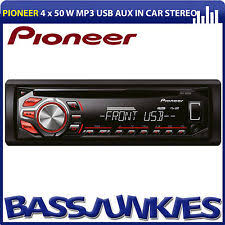 deh p77dh gm harness premier pioneer aux alarm 1 5 din pioneer Pioneer Din and a Half pioneer deh single din usb cd mp3 aux in rca car stereo radio player red display