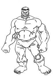 Kleurplaat Superhelden Kleurplaat Hulk Animaatjesnl