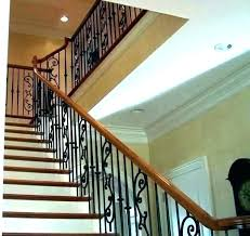 black iron railing rails for steps pipe stair rail wrought wood hand diy paint